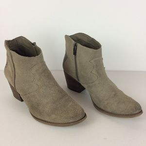 Marc Fisher Stefani Suede Western Ankle Boots 8.5